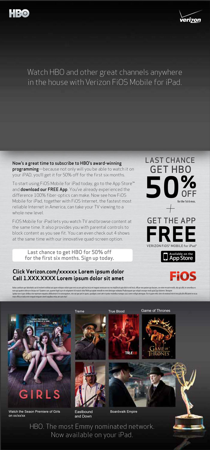 Verizon FiOS HBO